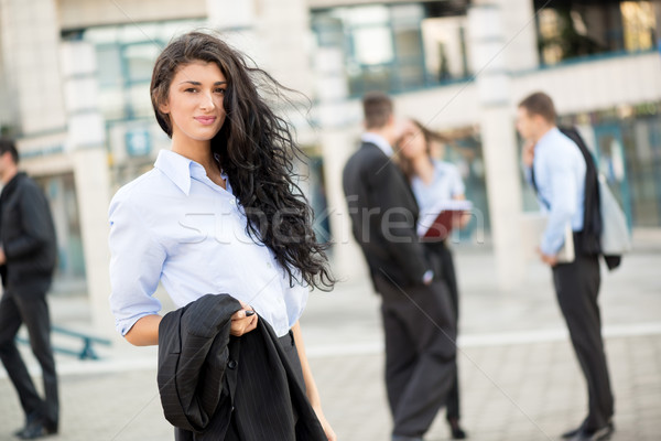 Young Pretty Businesswoman Stock photo © MilanMarkovic78