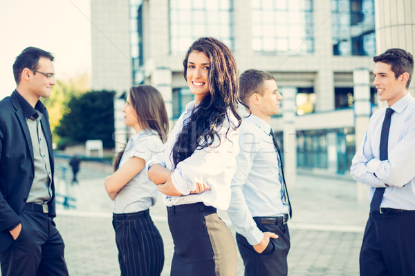 小さな 女性実業家 肖像 美しい チーム ビジネスの方々 ストックフォト © MilanMarkovic78