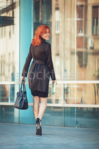 Businesswoman On The Way In Office Building Stock photo © MilanMarkovic78