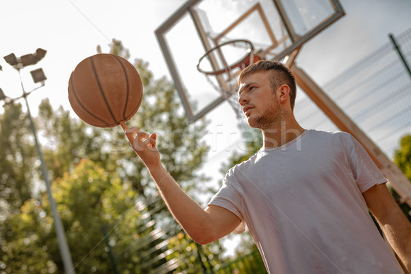 Mutat képességek fiatal utca kosárlabdázó labda Stock fotó © MilanMarkovic78