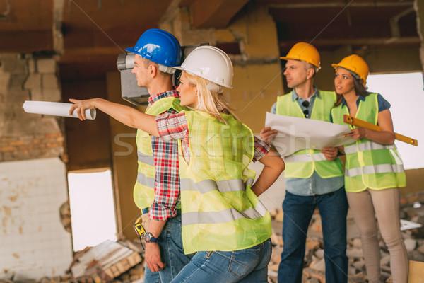 Reconstrução catástrofe quatro construção plano Foto stock © MilanMarkovic78