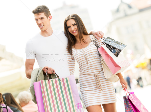 Loving Couple In The Shopping Stock photo © MilanMarkovic78