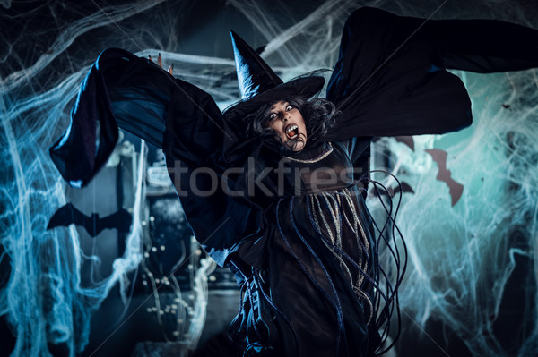 Zdjęcia stock: Witch · zło · duchy · twarz · pełzający · pełny
