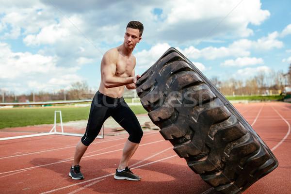 Strongman Exercise Stock photo © MilanMarkovic78