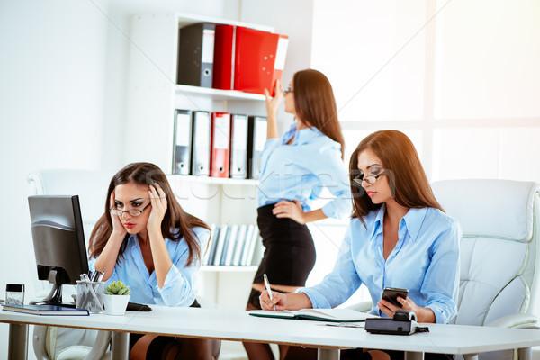 Overly Busy Secretary Stock photo © MilanMarkovic78