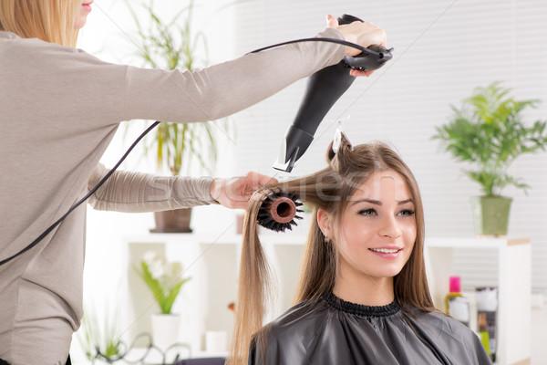парикмахер долго фен красивой горизонтальный Сток-фото © MilanMarkovic78