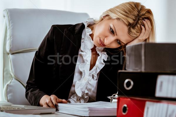 Hardworking Businesswoman Stock photo © MilanMarkovic78