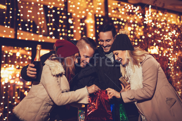 Stock photo: Best Friends At Christmas Night