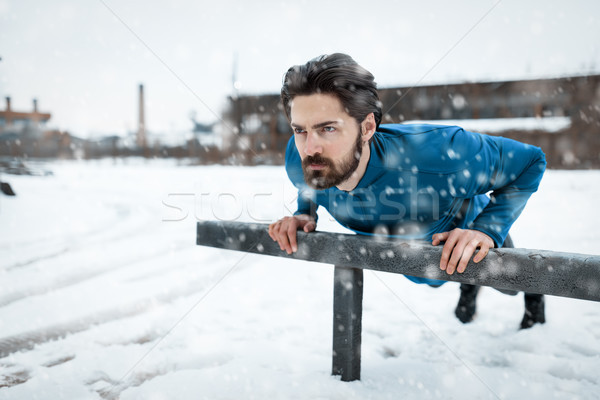 Winter Push Ups Stock photo © MilanMarkovic78