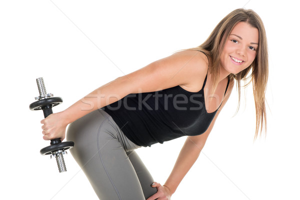 Beautiful woman exercising Stock photo © MilanMarkovic78