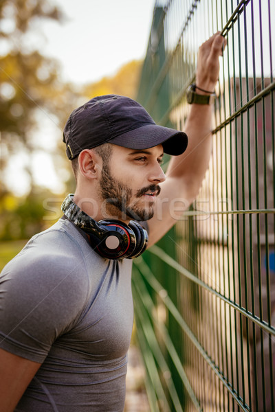 Young Man After Workout At The Park Stock photo © MilanMarkovic78