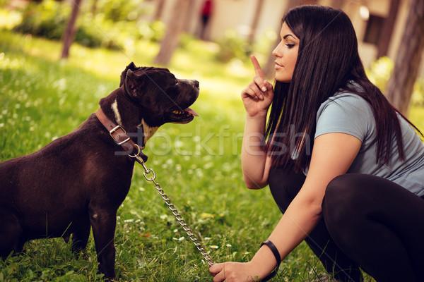 少女 犬 かわいい テリア 所有者 ストックフォト © MilanMarkovic78