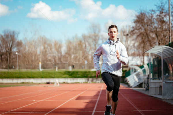 Running On Tracks Stock photo © MilanMarkovic78