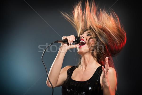Cute Rock Star Stock photo © MilanMarkovic78