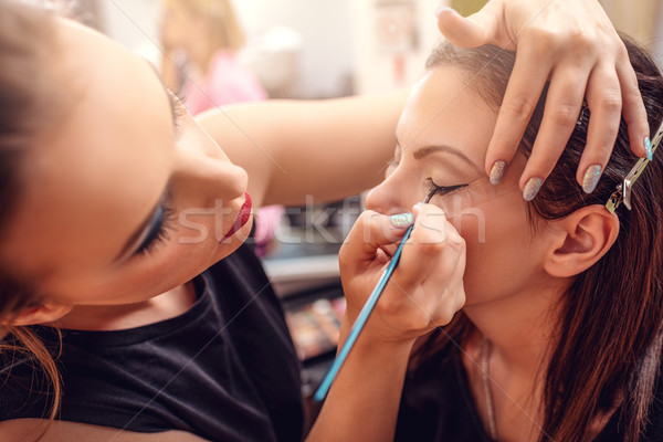 Perfect ogen eyeliner model Stockfoto © MilanMarkovic78
