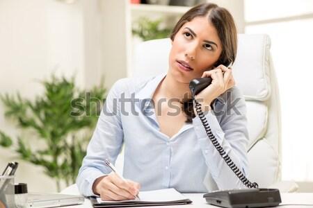 Sexy Secretary Phoning Stock photo © MilanMarkovic78