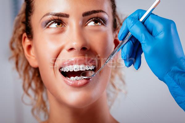 Smiling Girl At Dentist Stock photo © MilanMarkovic78