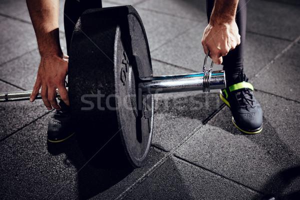 Tornaterem nap közelkép erős férfi kész Stock fotó © MilanMarkovic78