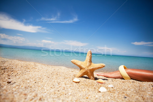 Pacífico día playa relajación verano azul Foto stock © MilanMarkovic78