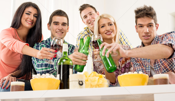 Cheers Friends Stock photo © MilanMarkovic78