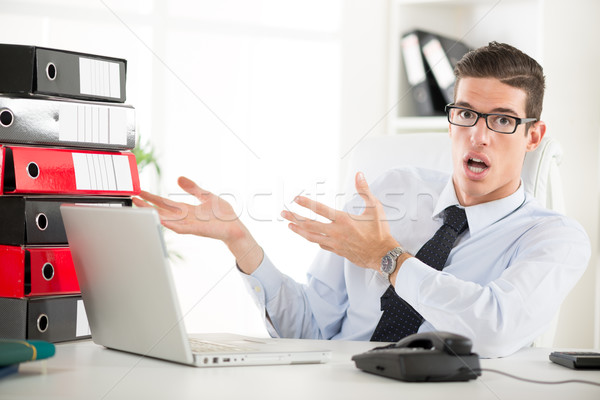 Worried Businessman Stock photo © MilanMarkovic78