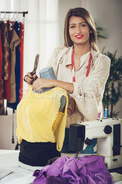 Fashion Designer With Mannequin Stock photo © MilanMarkovic78