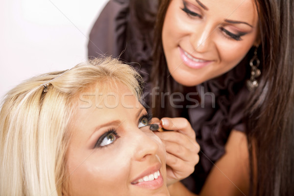 Applying mascara Stock photo © MilanMarkovic78