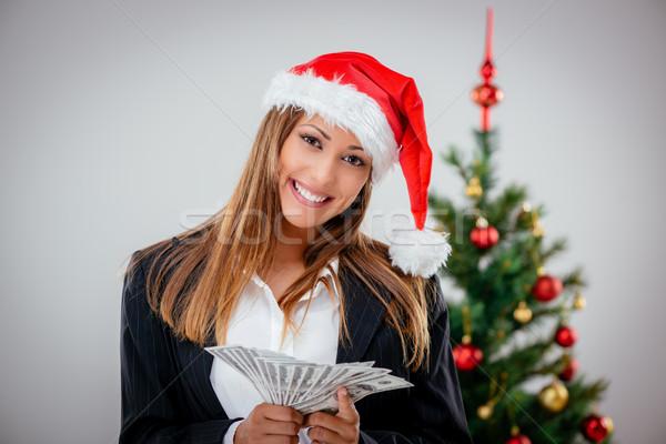 Mujer de negocios dólar exitoso mujer de negocios Foto stock © MilanMarkovic78