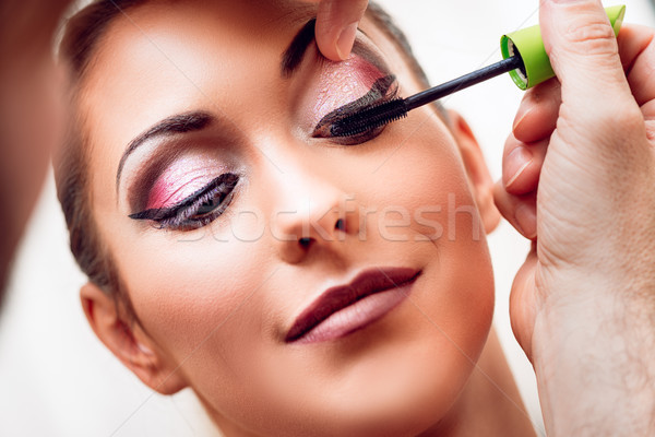 Perfect make mascara model Stockfoto © MilanMarkovic78