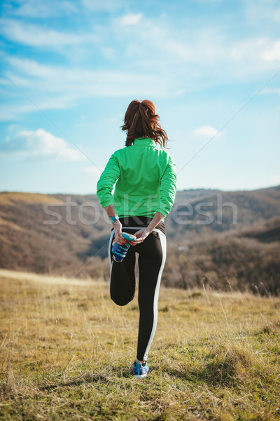 Stock photo: Stretching In Nature
