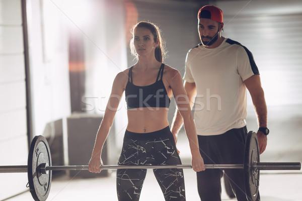 Training With Coach Stock photo © MilanMarkovic78