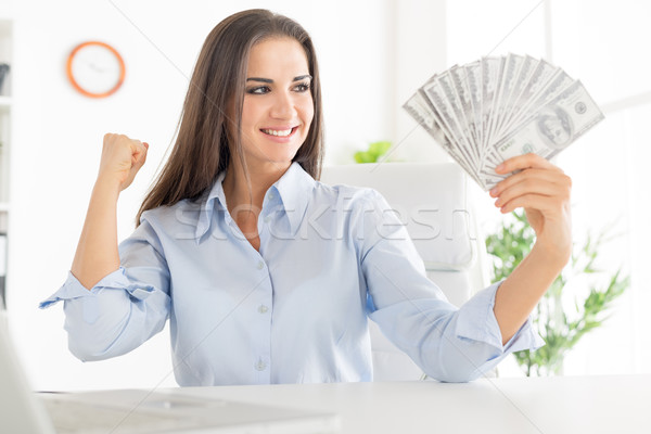 The Joy Of The First Salary Stock photo © MilanMarkovic78