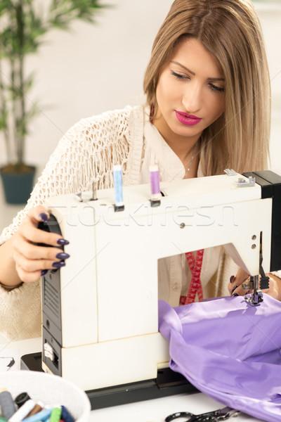 Beautiful Women Sew Stock photo © MilanMarkovic78