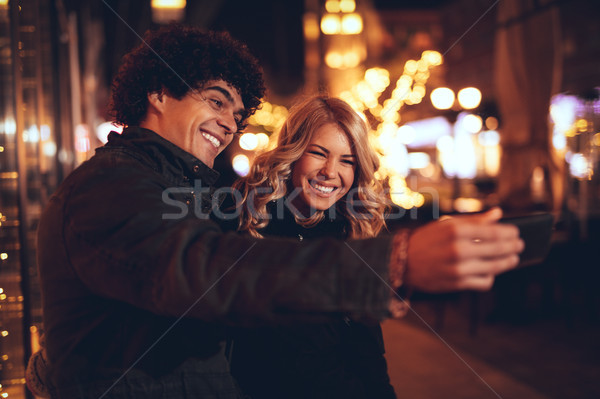 Christmas Selfie  Stock photo © MilanMarkovic78