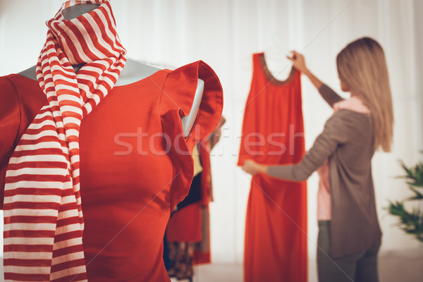 Stock photo: Dress On Mannequin