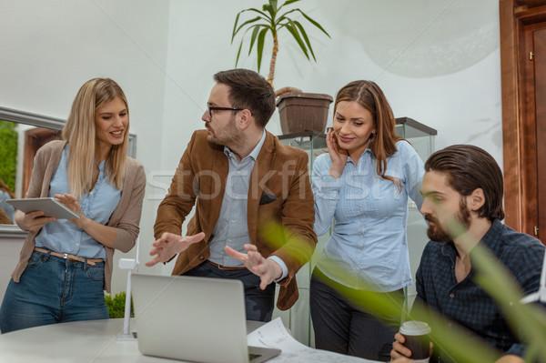 Mi gondolkodik csapat okos alkalmas szakképzett Stock fotó © MilanMarkovic78