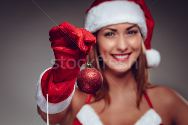 Red Christmas Ball Stock photo © MilanMarkovic78