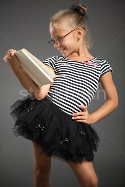 女の子 かなり 笑みを浮かべて ポーズ 図書 スタジオ ストックフォト © MilanMarkovic78