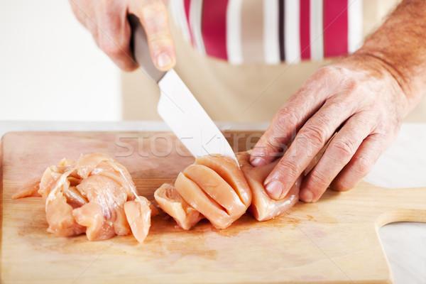 Raw Chicken filet Stock photo © MilanMarkovic78