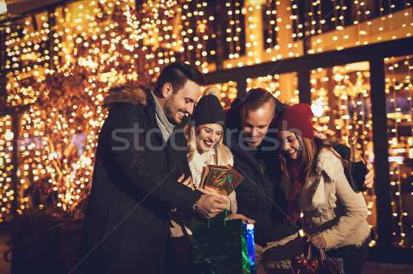 Stock photo: Best Friends In A Christmas Shopping