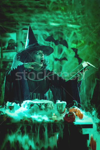 Witch Is Cooking Magic Potion Stock photo © MilanMarkovic78