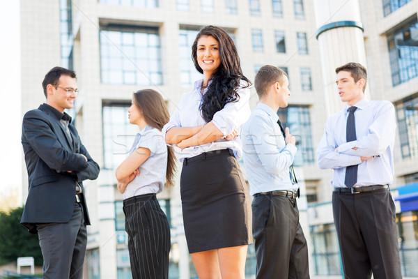 かわいい 上司 小さな 女性実業家 チーム ビジネスの方々 ストックフォト © MilanMarkovic78