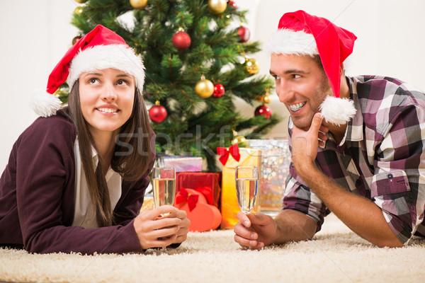 Celebrating Christmas Or New Year Stock photo © MilanMarkovic78
