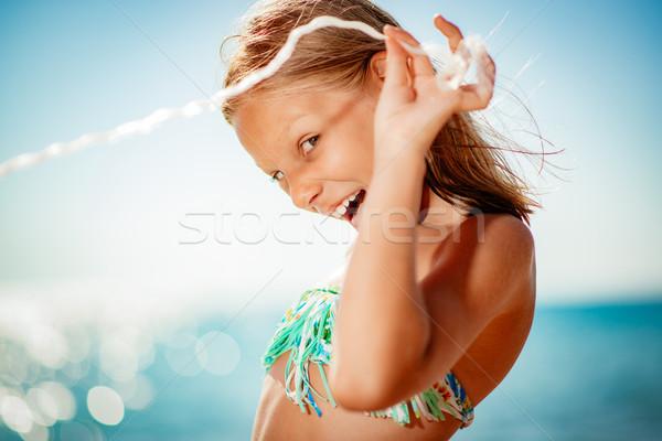 Crazy Little Girl Stock photo © MilanMarkovic78