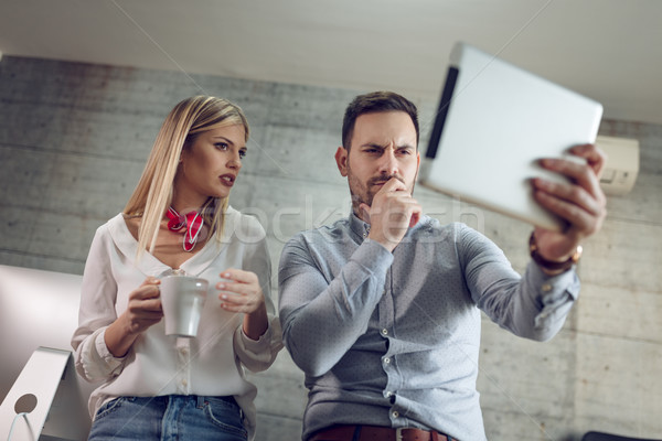 Hmm, I Have To Think Of Some Innovative Business Idea! Stock photo © MilanMarkovic78