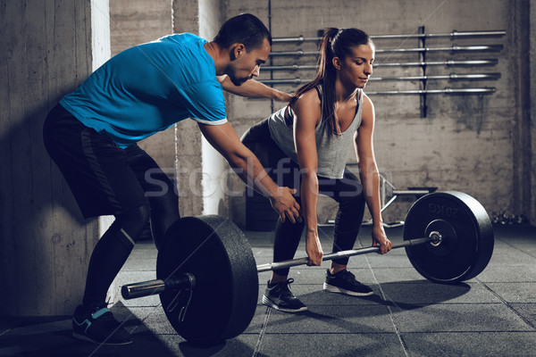 Training With A Personal Trainer Stock photo © MilanMarkovic78