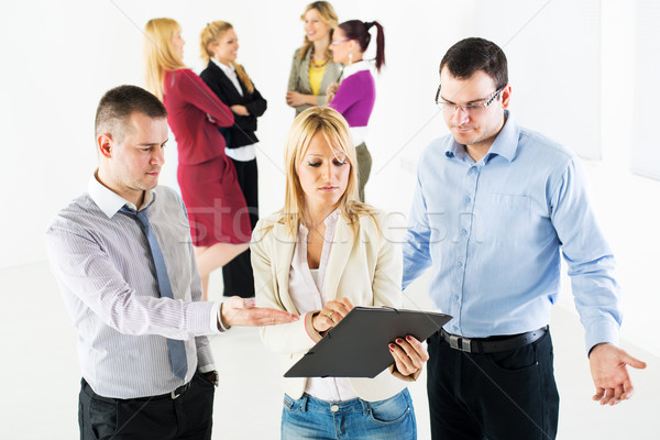 Stock photo: Business people discussing