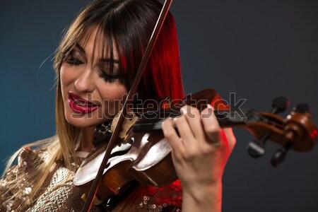 Aantrekkelijk leger meisje jonge mooie militaire Stockfoto © MilanMarkovic78
