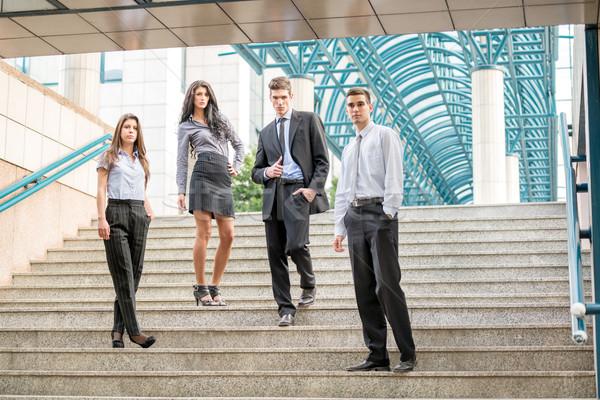 Zdjęcia stock: Udany · zespół · firmy · grupy · młodych · ludzi · biznesu · stałego