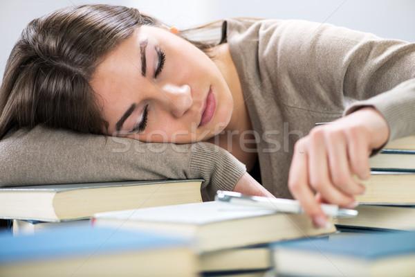 Tired student Stock photo © MilanMarkovic78